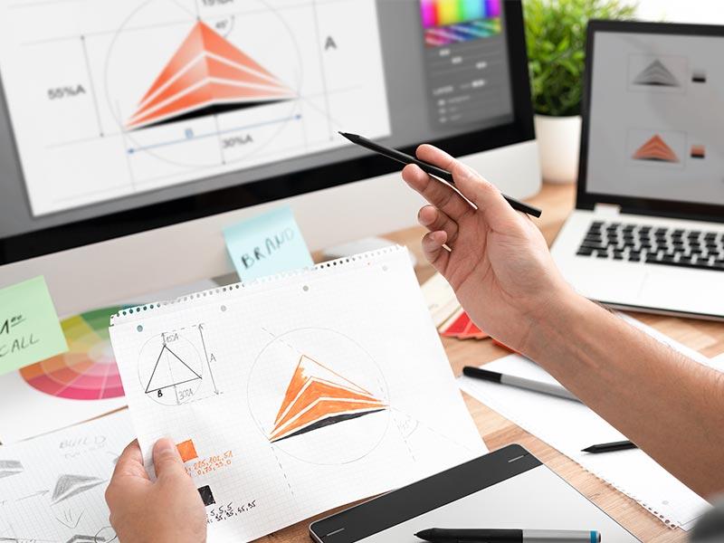 企業様・サービスのロゴや会社案内、各種印刷物などのデザインをご提案します。